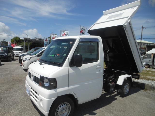 沖縄県の中古車ならクリッパートラック  ダンプ 5速 4WD エアコン パワステ オールペン済