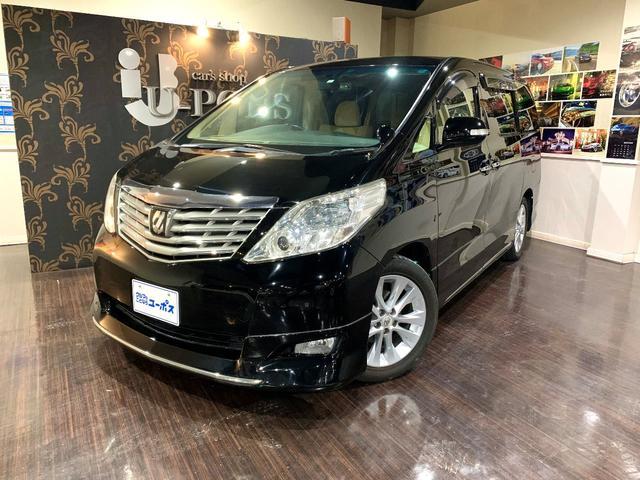 沖縄の中古車 トヨタ アルファード 車両価格 128万円 リ済別 2010(平成22)年 8.9万km ブラック