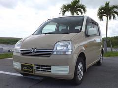 沖縄の中古車 ダイハツ ムーヴ 車両価格 21万円 リ済込 平成15年 5.6万K アイボリー&カフェオレ
