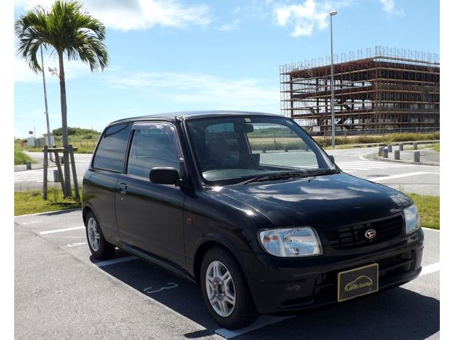 沖縄の中古車 ダイハツ ミラ 車両価格 15万円 リ済込 平成14年 7.9万km ブラック