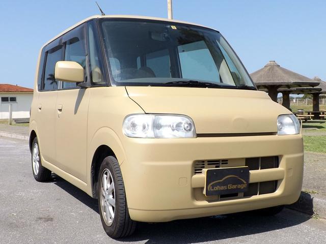 沖縄の中古車 ダイハツ タント 車両価格 15万円 リ済込 2004(平成16)年 12.5万km 艶消しカーキ