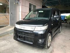 沖縄の中古車 スズキ ワゴンRスティングレー 車両価格 25万円 リ済込 平成21年 16.0万K ブルーイッシュブラックパール