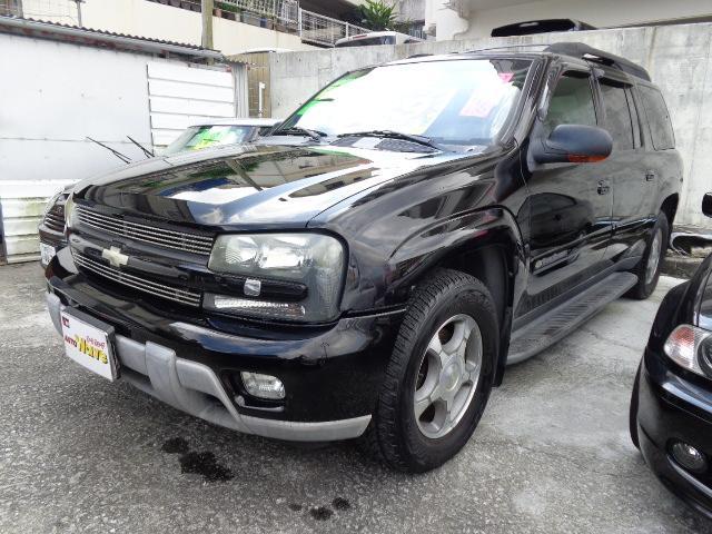 沖縄の中古車 シボレー シボレー トレイルブレイザー 車両価格 59万円 リ済込 2004年 4.5万km ブラックM