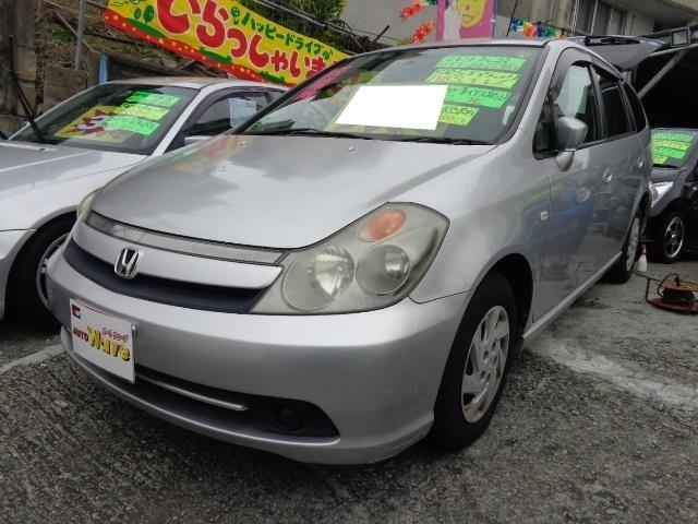 沖縄の中古車 ホンダ ストリーム 車両価格 39万円 リ済込 平成18年 8.0万km シルバーM