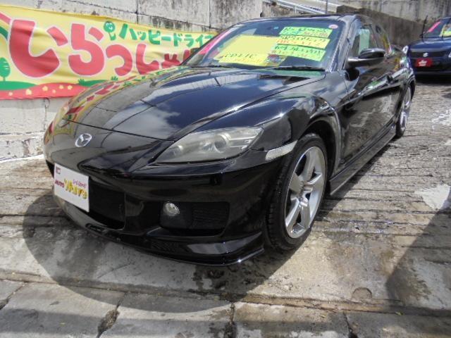 沖縄の中古車 マツダ RX-8 車両価格 79万円 リ済込 平成18年 9.7万km ブラックM