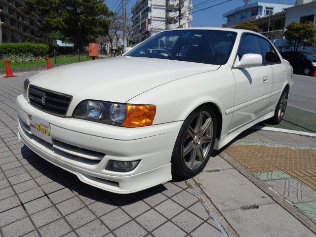 沖縄の中古車 トヨタ チェイサー 車両価格 39万円 リ済込 平成11年 14.0万km ホワイトM