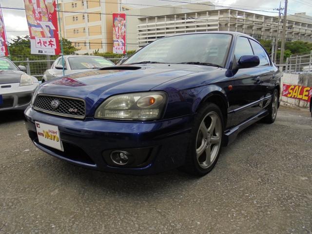 沖縄の中古車 スバル レガシィB4 車両価格 49万円 リ済込 2002(平成14)後 10.5万km ブルーM