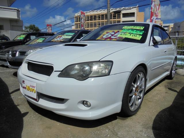 沖縄の中古車 スバル レガシィB4 車両価格 55万円 リ済込 2003(平成15)年 13.3万km パールホワイト