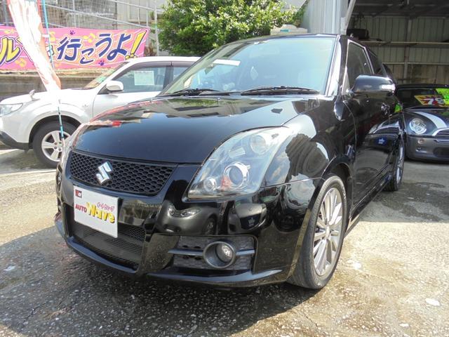 沖縄の中古車 スズキ スイフト 車両価格 45万円 リ済込 2008(平成20)年 11.3万km ブラックM