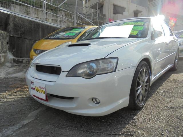 沖縄の中古車 スバル レガシィB4 車両価格 49万円 リ済込 2004(平成16)年 10.2万km パールホワイト