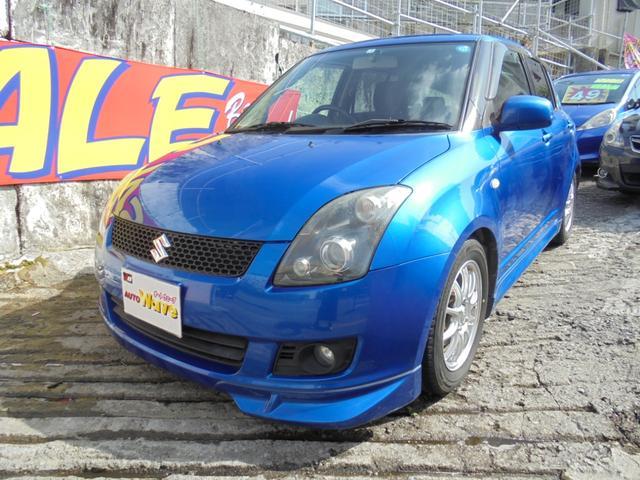沖縄の中古車 スズキ スイフト 車両価格 39万円 リ済込 2009(平成21)年 11.8万km ブルーM