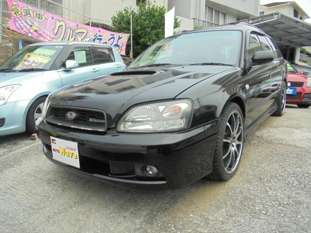 沖縄の中古車 スバル レガシィツーリングワゴン 車両価格 39万円 リ済込 2003(平成15)年 16.0万km ブラック