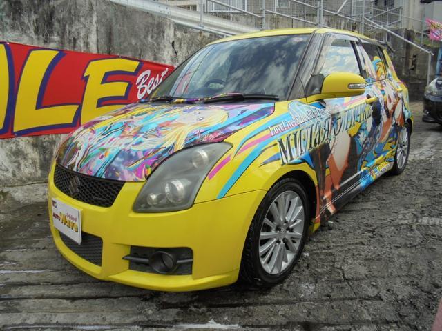 沖縄の中古車 スズキ スイフト 車両価格 35万円 リ済込 2008(平成20)年 18.4万km イエロー