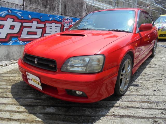 沖縄の中古車 スバル レガシィB4 車両価格 49万円 リ済込 2001(平成13)年 10.5万km レッドM