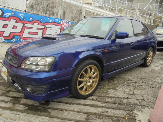 沖縄県宜野湾市の中古車ならレガシィB4 RSK 5速ツインターボフルタイム4WD本革パワーシート