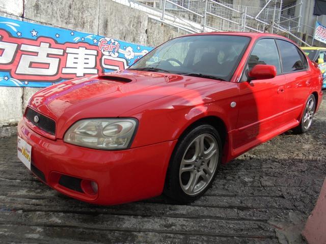 沖縄の中古車 スバル レガシィB4 車両価格 56万円 リ済込 2002(平成14)年 19.5万km レッドM