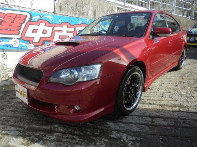 沖縄の中古車 スバル レガシィB4 車両価格 59万円 リ済込 2005(平成17)年 9.2万km レッドM