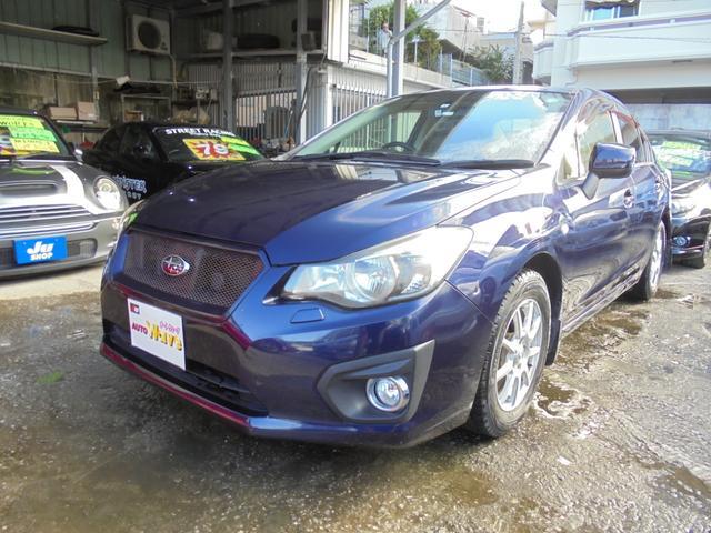 沖縄の中古車 スバル インプレッサG4 車両価格 59万円 リ済込 2012(平成24)年 8.0万km ブルーM