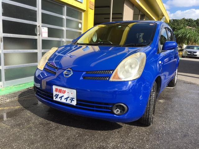 沖縄の中古車 日産 ノート 車両価格 25万円 リ済込 2006(平成18)年 10.1万km ブルーM