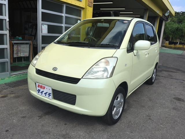 沖縄の中古車 スズキ MRワゴン 車両価格 17万円 リ済込 平成14年 13.9万km イエローM
