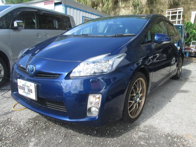 沖縄の中古車 トヨタ プリウス 車両価格 94万円 リ済込 平成21年 5.3万km ディープブルーーM