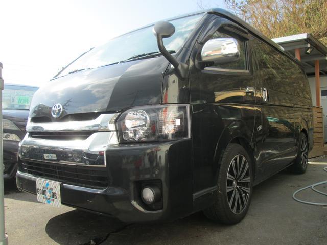 沖縄の中古車 トヨタ ハイエースワゴン 車両価格 138万円 リ済込 平成20年 27.0万km 209ブラックM