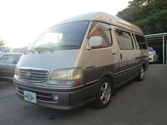 沖縄県の中古車ならハイエースバン キャンピング仕様 7人乗り シャワー室 2段ベッド 軽油