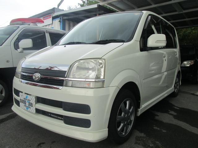 沖縄県の中古車ならムーヴ L 純正フルエアロ パールホワイト キーレス Rスポ