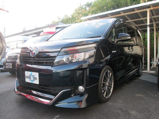 沖縄県の中古車ならヴォクシー ハイブリッドV モデリスタエアロ 車高調 両側パワスラ