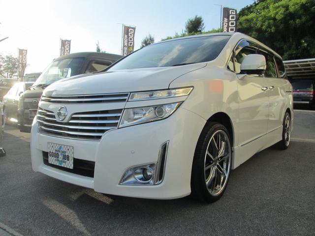 沖縄の中古車 日産 エルグランド 車両価格 77万円 リ済込 2010(平成22)年 19.7万km ホワイトパール