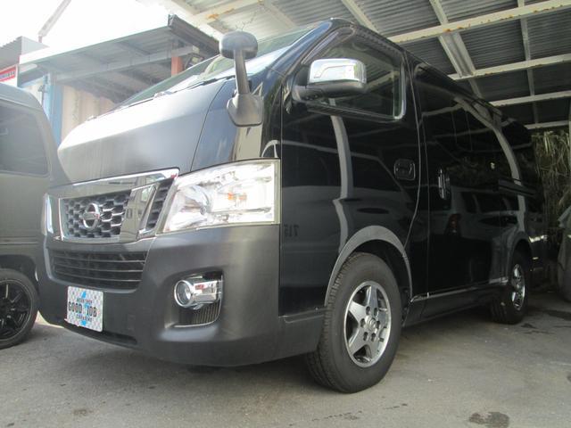 沖縄の中古車 日産 NV350キャラバンワゴン 車両価格 125万円 リ済込 2012(平成24)年 19.5万km スーパーブラック