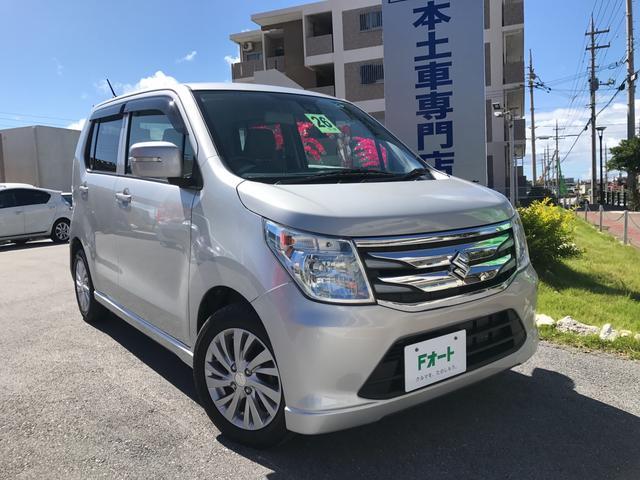 沖縄の中古車 スズキ ワゴンR 車両価格 89万円 リ済別 平成26年 2.8万km シルキーシルバーメタリック