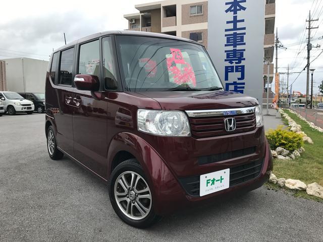 沖縄の中古車 ホンダ N-BOX 車両価格 88万円 リ済別 平成25年 7.7万km プレミアムディープロッソパール