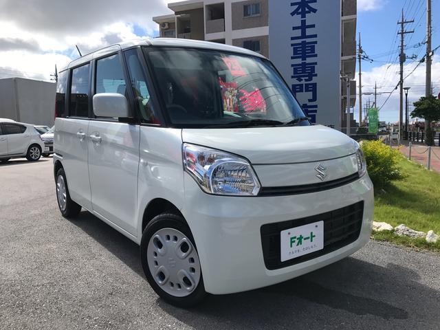 沖縄の中古車 スズキ スペーシア 車両価格 85万円 リ済込 2013(平成25)年 5.2万km パールホワイト
