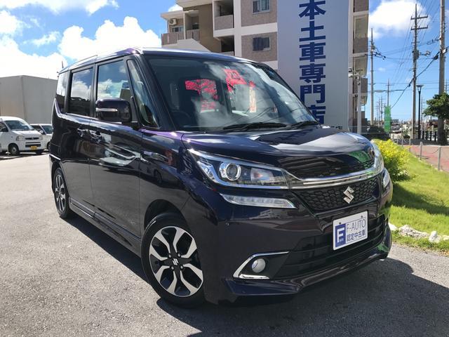 沖縄県の中古車ならソリオバンディット ハイブリッドMV デュアルカメラブレーキサポート ナビ TV