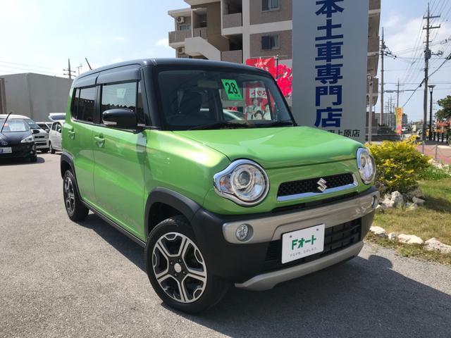 沖縄県中頭郡中城村の中古車ならハスラー X ハイブリッド 新品高級レザーシートカバー スマートキー