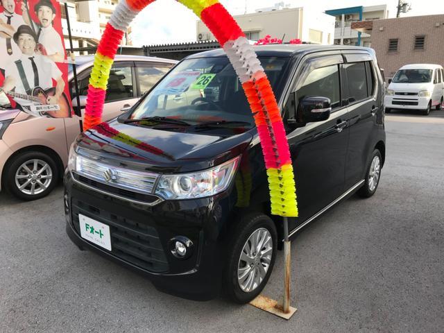 沖縄の中古車 スズキ ワゴンRスティングレー 車両価格 68万円 リ済込 2014(平成26)年 8.0万km ブラックM