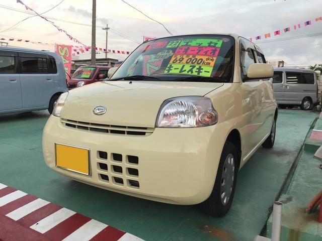 沖縄の中古車 ダイハツ エッセ 車両価格 38万円 リ済込 平成22年 6.9万km ベージュ
