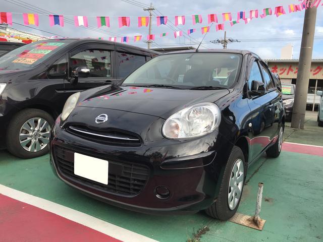 沖縄の中古車 日産 マーチ 車両価格 58万円 リ済込 平成23年 7.6万km ブラック