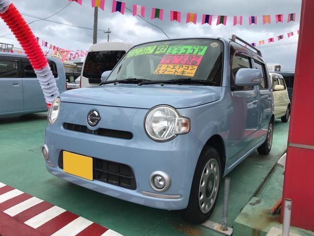 沖縄の中古車 ダイハツ ミラココア 車両価格 47万円 リ済込 平成22年 11.6万km ライトブルー