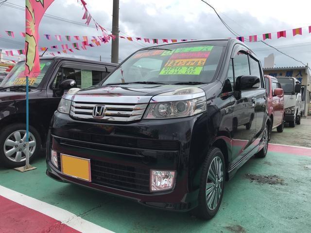 沖縄の中古車 ホンダ ライフ 車両価格 64万円 リ済込 平成23年 9.3万km ブラック