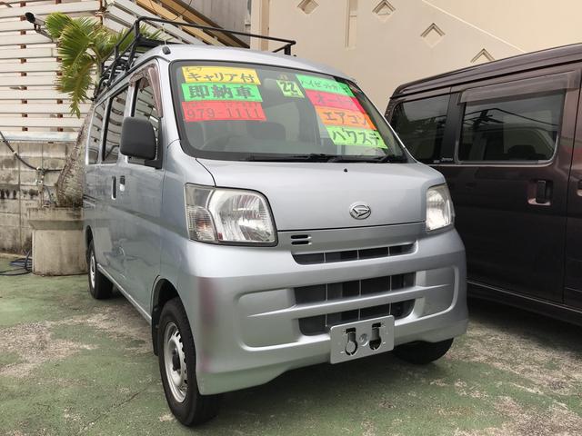 沖縄の中古車 ダイハツ ハイゼットカーゴ 車両価格 44万円 リ済込 平成22年 10.9万km シルバー