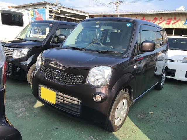 沖縄の中古車 日産 モコ 車両価格 68万円 リ済込 2012(平成24)年 7.6万km ブラウン