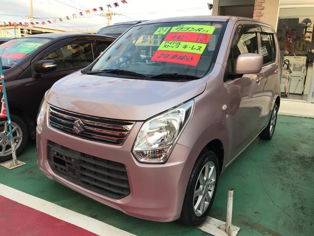 沖縄の中古車 スズキ ワゴンR 車両価格 54万円 リ済込 2012(平成24)年 8.2万km ピンク