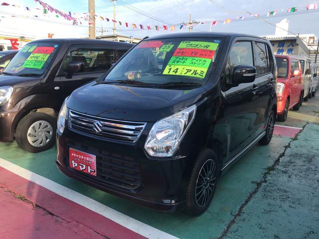 沖縄の中古車 スズキ ワゴンR 車両価格 64万円 リ済込 2013(平成25)年 9.2万km ブラック