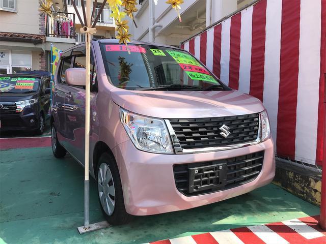 沖縄の中古車 スズキ ワゴンR 車両価格 77万円 リ済込 2016(平成28)年 1.7万km ピンク