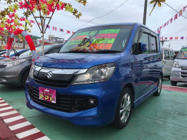 沖縄の中古車 スズキ ソリオバンディット 車両価格 88万円 リ済込 2013(平成25)年 7.6万km ブルー