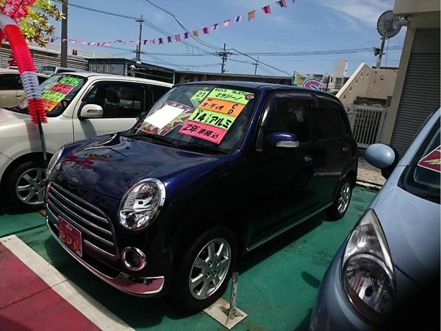 沖縄の中古車 ダイハツ ミラジーノ 車両価格 54万円 リ済込 2009(平成21)年 8.9万km ブルー