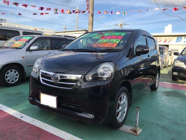 沖縄の中古車 ダイハツ ミライース 車両価格 54万円 リ済込 2012(平成24)年 6.2万km ブラック