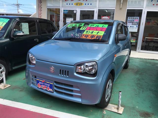 沖縄の中古車 スズキ アルト 車両価格 54万円 リ済込 2015(平成27)年 9.6万km ライトブルー